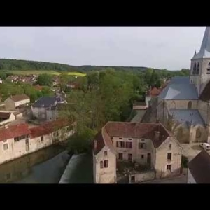 Les Riceys Drone - Eglise Ricey haut